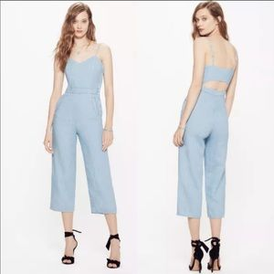 MOTHER The Cut It Out Jumpsuit in Songbird